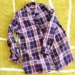 【ZARAセール】初日にGET!赤×ネイビーのくすみチェックシャツの口コミ